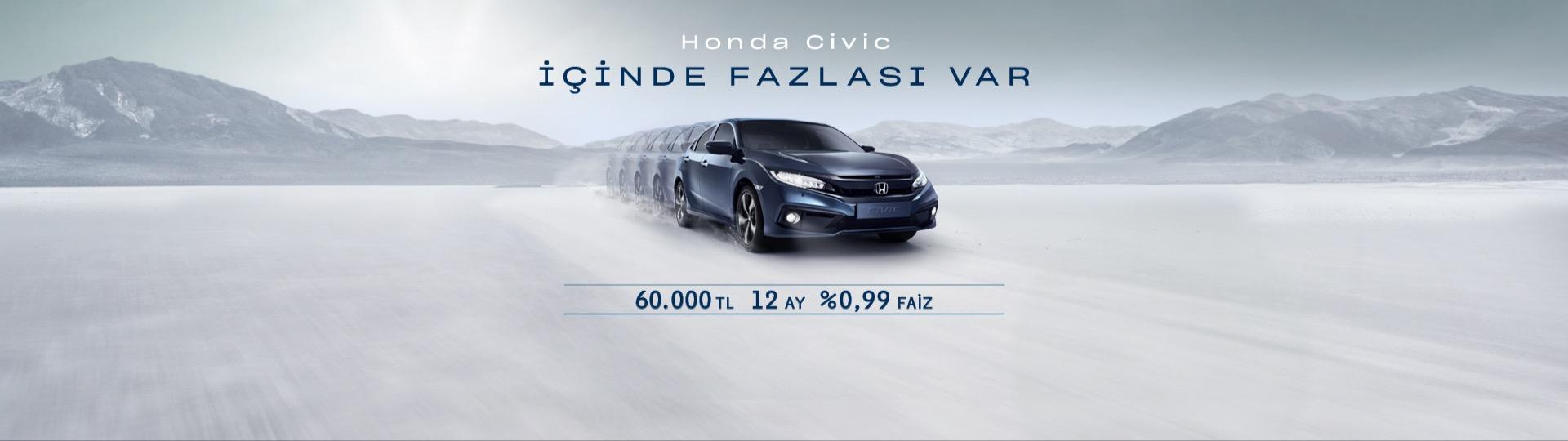 Honda Plaza  Terakki Civic Sedan Hayalinize %0.99'luk Faiz Oranıyla Sahip Olun