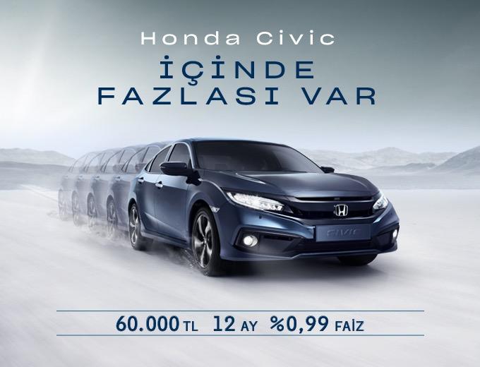 Civic Sedan Hayalinize %0.99'luk Faiz Oranıyla Sahip Olun Honda Plaza  Park