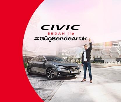Honda Plaza  Nitko 2021 MY Civic Sedan'a ocak ayına özel kredi seçenekleriyle sahip olun.