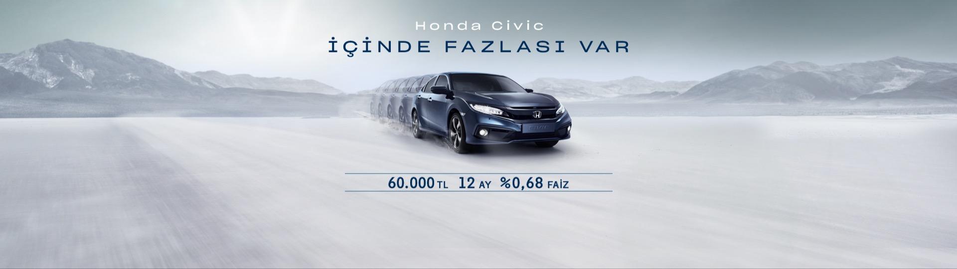 Honda Plaza  Kardelen Civic Sedan Hayalinize %0,68'lik Faiz Oranıyla Sahip Olun